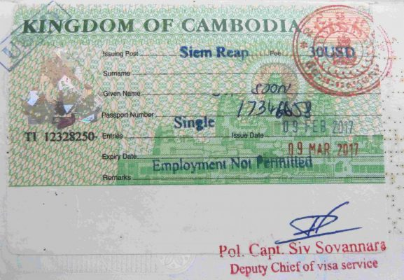 Cambodia Visa and Passport
